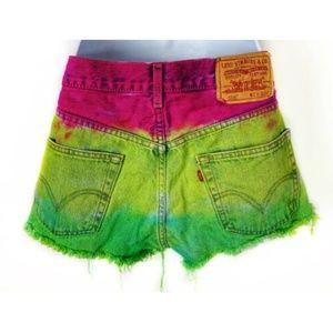 Levi's 505 Cutoff Button Fly Jeans Denim Shorts 29